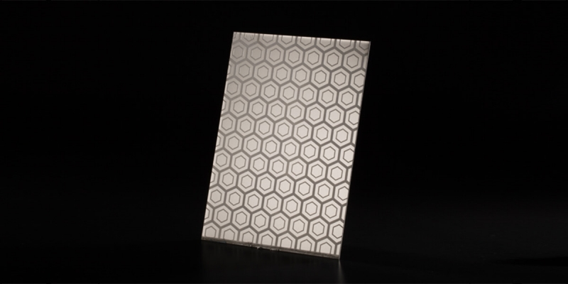 Etched Finish Stainless Steel Plate