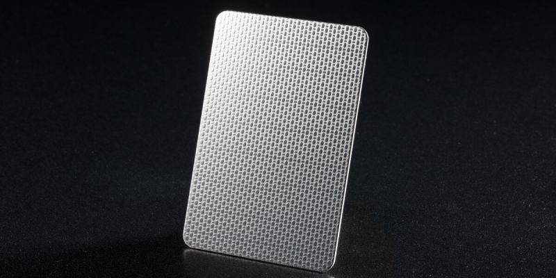 Linen Finish Stainless Steel Plate